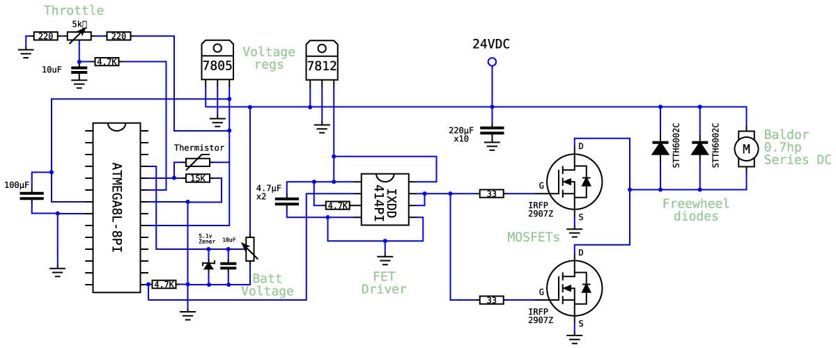 dc motor controller schematic diagram zero emission vehicles australia  zero emission vehicles australia